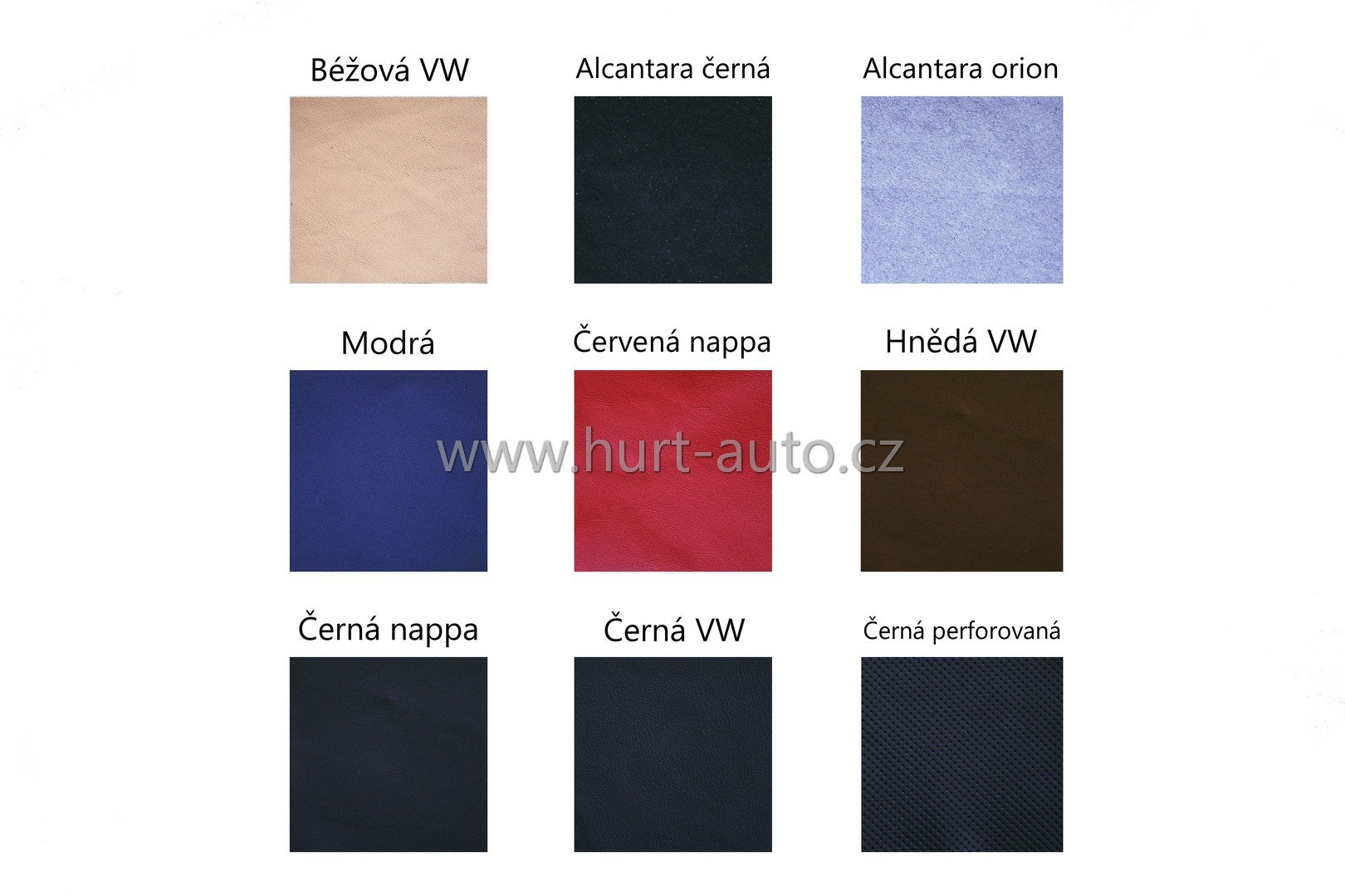 Sampler of basic colours that we have usually in stock